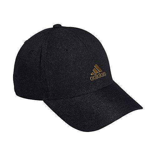 adidas Originals - Gorra de béisbol para Hombre, diseño de Estadio, Color Negro y Dorado, Talla S/M