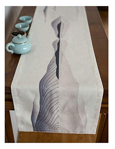 Tafel Runner Katoen en Linnen Doek Moderne Eenvoudige Bed Vlag Zen Polyester Katoen Bedrukken Borduren Craft