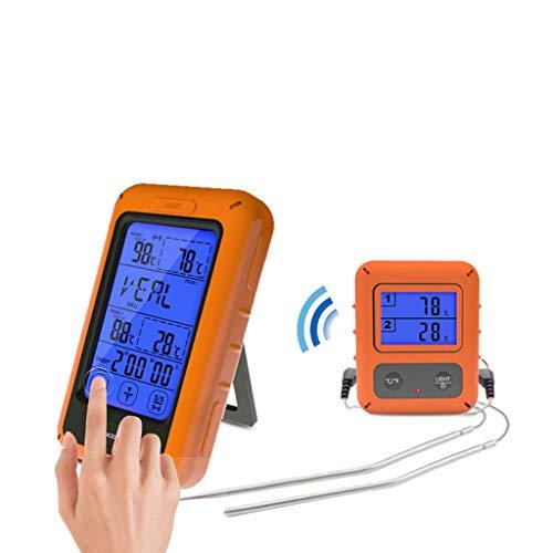 MRZ thermometer-draadloos touchscreen, waterdichte sonde LCD-digitale tijdmeting, waarschuwings-antislip, keuken-voedsel-vlees-grills.