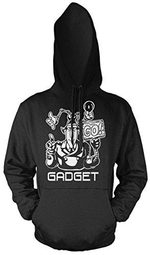 Uglyshirt87 inspector gadget heren en heren capuchonpullover | spreuk retro film cadeau
