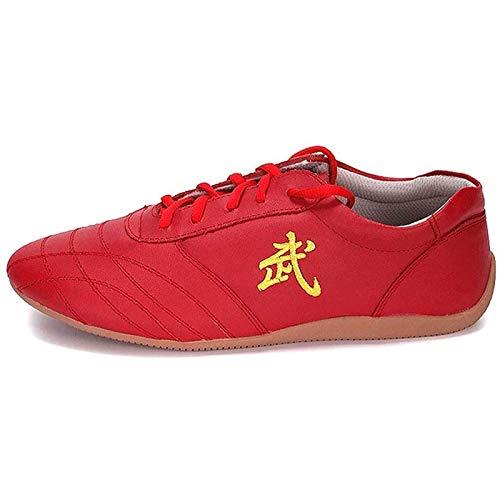 GHJUH Zapatos De Taekwondo Taichi Artes Marciales con Cordones Zapatillas De Boxeo Zapatos De Karate para Taichi Artes Marciales Zapatillas De Gimnasio Equipo De ProtecciÓn para Los Pies