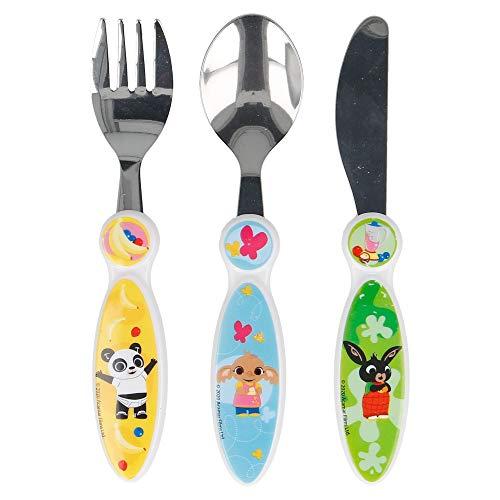 Bing Children's Kids 3pcs Cutlery Set, Knife/Fork/Spoon