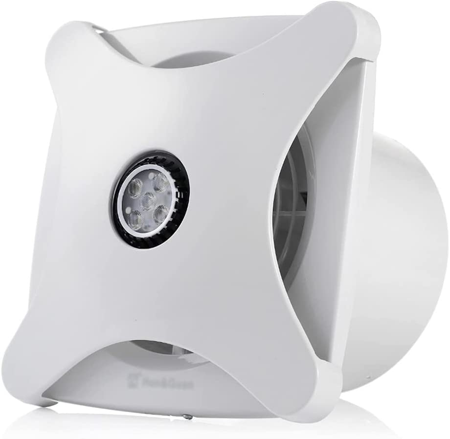 Yousiju Ventilador de escape silencioso de 6 pulgadas para baño, cocina, ventilación, ventana, techo, montaje en pared, extractor de aire, ventilador de conducto en línea