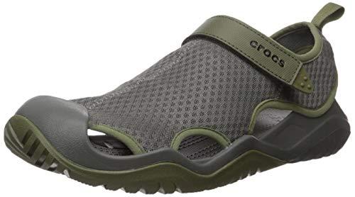 Crocs Swiftwater Mesh Deck Sandal M Zehentrenner, Grau (Slate Grey), 45/46 EU