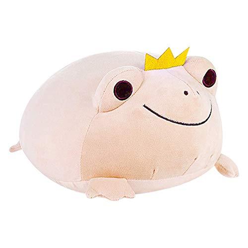 lefeindgdi Juguete de peluche con forma de rana, suave almohada de peluche, animales de peluche suave, juguetes para niños, novia, regalo de cumpleaños, elástico, adorable rana de peluche para niños