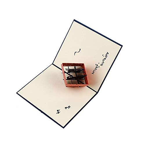 Ogquaton Tarjetas de felicitación Gato en la Caja Tarjeta Postal 3D para...