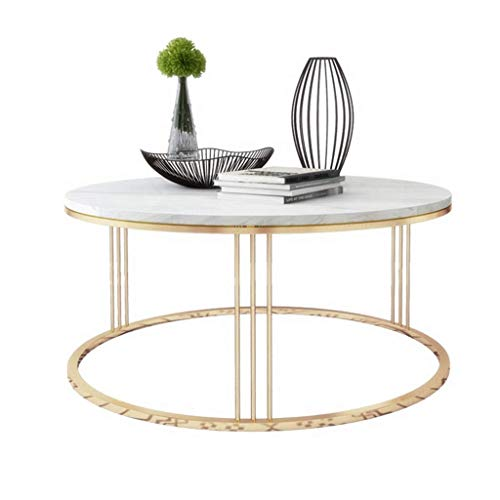 BXZ Mesa de centro redonda mesa de mármol mesa auxiliar sala de estar sofá mesa auxiliar círculo muebles para el hogar comedor/café/merienda/mesa de lectura,50 cm (19,7 '),50 cm (19,7 ')
