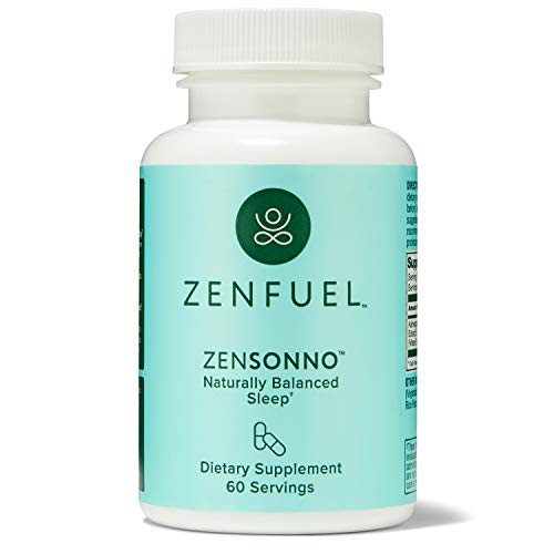 ZenSonno - Naturally Balanced Sleep – Ashwagandha Supplement – Natural Sleep Aid Without Melatonin – USA Made Vegan Herbal Supplement to Promote Better Sleep, 60 Count