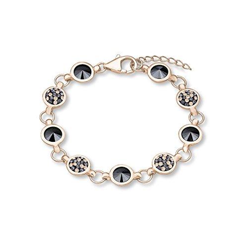Noelani Damen-Armband rosévergoldet veredelt mit Swarovski Kristallen