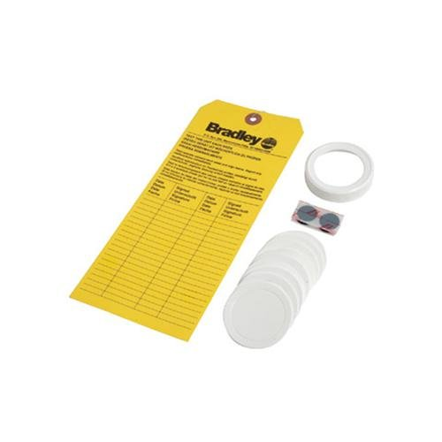 Bradley On-Site Eye Wash Refill Kit Replacement Cap, Foam Liners and Inspection Tag for On-Site Emergency Eye Wash Station