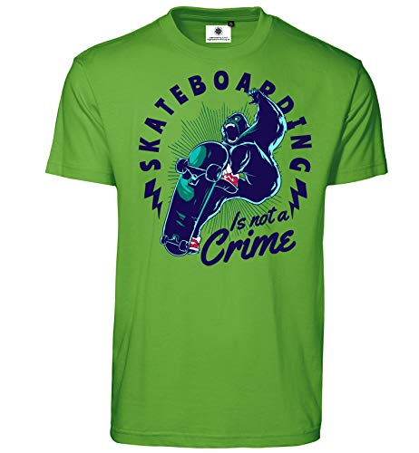 Aangepaste door S.O.S heren T-shirt Skateboarding is not a Crime