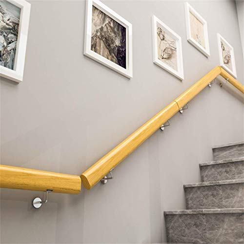 ARMREST 1ft-10ft. Barandilla con Soportes de Acero Inoxidable - Kit Completo. para Interiores y Exteriores, escaleras de Madera, Escalera, pasamanos, barandilla, Soporte de riel