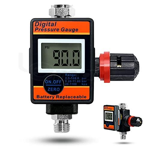 Lematec Digital Air Flow Gauge Regulator Works with all Air Tools and Compressors