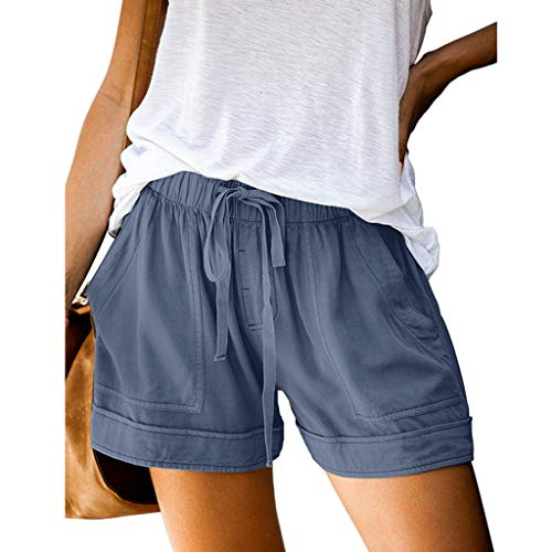 Fantastic Prices! 2020 New Womens Short Pant – Comfy Drawstring Splice Casual Elastic Waist Pocketed Loose Shorts Pants – Soft Wide Leg Shorts Casual Walking Shorts for Women