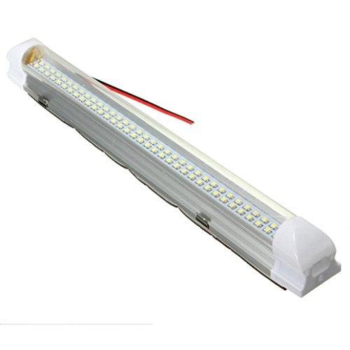 Erthome 1 x 12 V 72 LED pour intérieur de voiture Blanc avec interrupteur marche/arrêt inclus