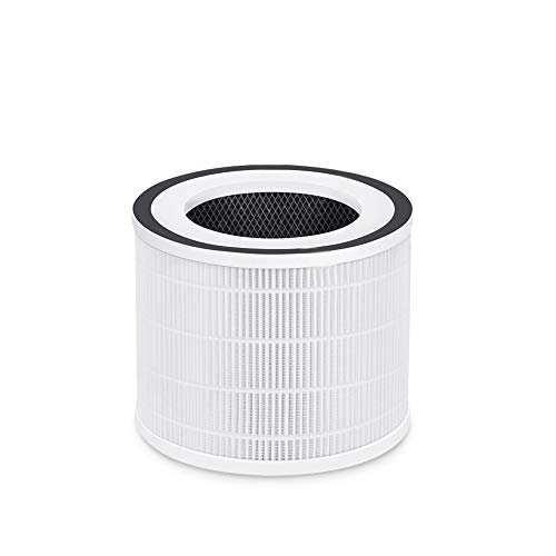 HIMOX H06 Air Purifier Replacement Filter, 3-in-1 Pre-Filter, True HEPA Filter, High-Efficiency Activated Carbon Filter (Filter, 1-Pack)