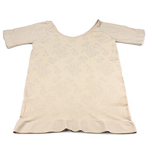 Smato 女性加圧補正下着 インナーTシャツ 猫背姿勢矯正 機能性インナー シェイプアップ 細身シャツ加圧t...