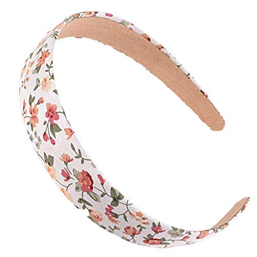 Yanhonin Bandeau Large Vintage pour Femmes, Cerceau De Cheveux Daisy Rose, Décor De Bandana