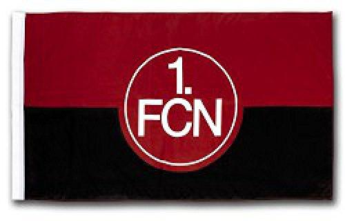 Flaggenfritze Flagge mit Hohlsaum 1. FC Nürnberg Logo - 90 x 150 cm + gratis Aufkleber