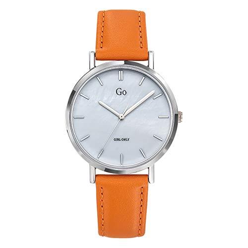 Girl Only - Reloj de pulsera analógico para mujer, color naranja, 699330 GO con correa de piel, UGO699330