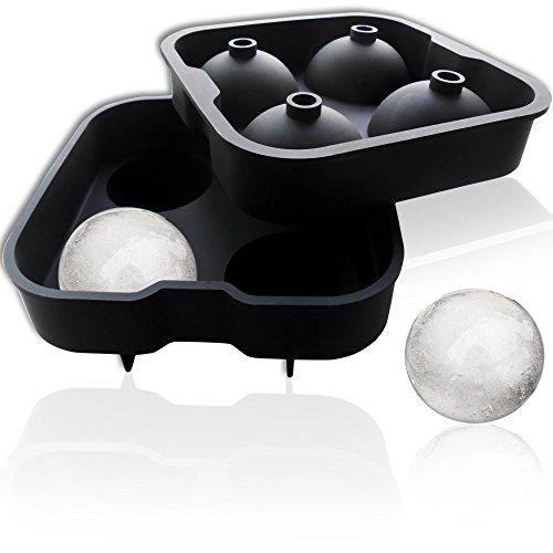 Power ferhd Ice Ball Mold Sphere Silikon Ice runden Maker 4 x 4,5 cm, perfekt für japanischen Whiskey, Cocktail und jedes Getränk