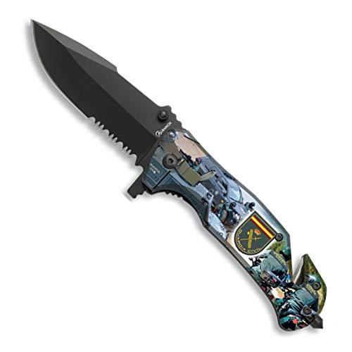 LGP Albainox – 18507-A – H 8,2 cm. Albainox Taschenmesser – Civil-Schutz, 3D-Fotodruck, Werkzeug für Jagd, Angeln, Camping, Outdoor, Survival und Bushcraft
