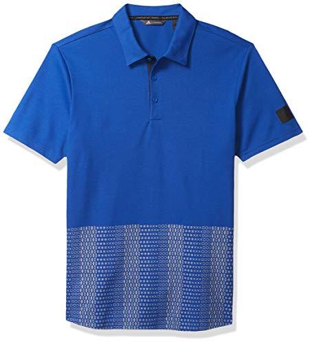 adidas Golf Adicross Novelty Print Polo Shirt, Team Royal Blue, Medium