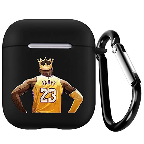 KingJames AirPods-Hülle mit Schlüsselanhänger, kompatibel mit Apple AirPods 1 & 2, Silikonhülle, schützt, stoßdämpfende Schutzhülle (KingJames)