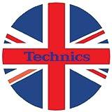 Technics DMC - Tappetino per giradischi, 1 paio, colore: rosso/bianco/blu
