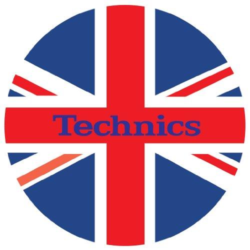 Technics DMC DJ Slipmats (1 Paar) rot/weiß/blau