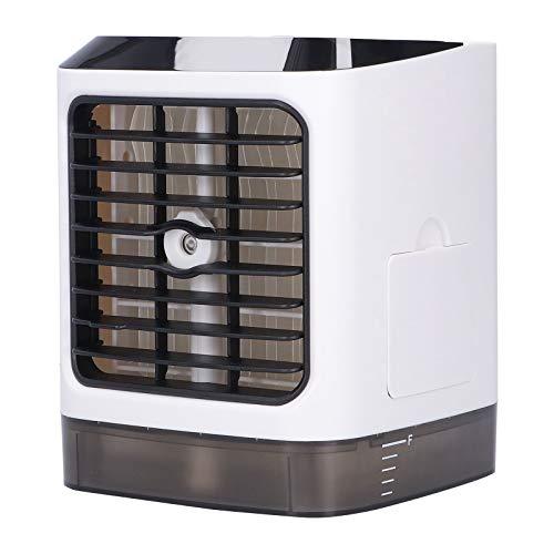Mini Enfriador de Aire, Ventilador de enfriamiento de 6 a 15 W con indicador de Noche para Sala de Estar para Dormitorio
