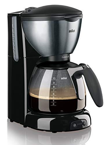 Braun KF 570/1 Cafetera de goteo, semi-automática, independiente, 1100 W, acero inoxidable, negro y plateado