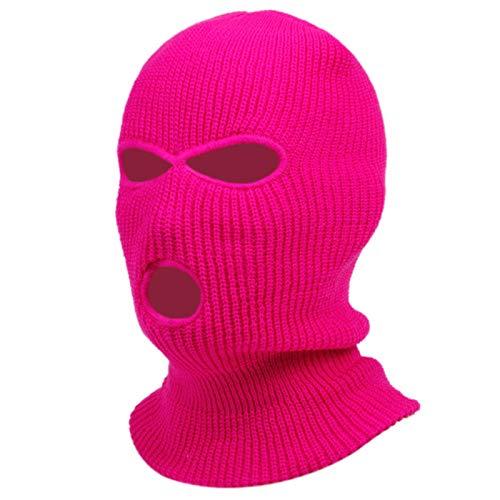 QEWRT Máscara de pasamontañas Sombrero Cubierta de Invierno Máscara de neón Gorras Verdes de Halloween para Fiesta Motocicleta Bicicleta Esquí Ciclismo Pasamontañas Máscaras Rosadas