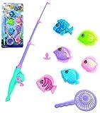 VENTURA TRADING Juego de Pesca magnética Juguete de baño Juguete de la Piscina Playa Juguete de Agua Juego de Pesca Educación Enseñanza y Aprendizaje