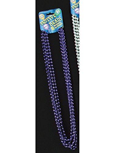 Forum Novelties Beaded 33' Necklace Adult Costume Jewelry, Lav