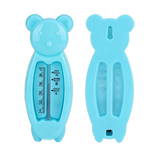 MeterMall Children's Cartoon Indoor Bath Thermometer Bear Water Thermometer Shower Products for Baby blue