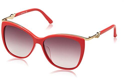 Swarovski SK0104 66F-57-14-140 Swarovski Sunglasses Sk0104 66F-57-14-140 Schmetterling Sonnenbrille 57, Rot