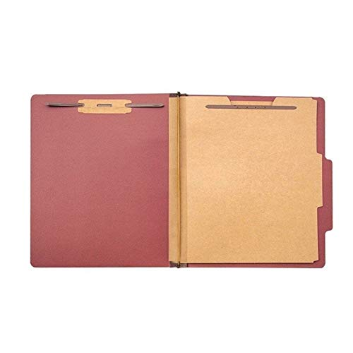 HAOZHAO with 2 Durable 2 Forked Classification Folders Used to Organize Standard Files Office Reports (Color : Red)