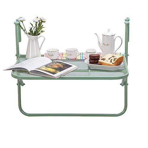 GAOLIM Mesa de terraza Plegable para balcón, Altura Ajustable, para Colgar en el Patio, con barandilla, Estante de...