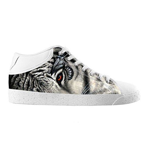 Cheese Noël Heureux Tigre haute qualit ¨ ¤ chaussures Canvas Custom Chukka pour les Homme, EUR 41