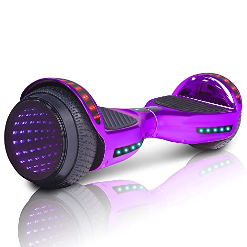 Electric Hoverboard with Built in Bluetooth Speaker LED Lights 6.5 inch Wheels...