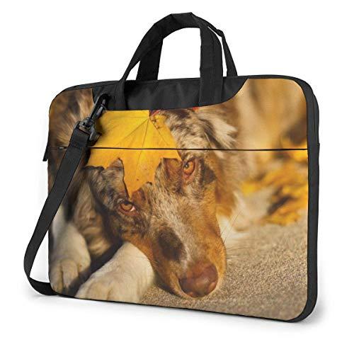 Australian Dog Laptop Shoulder Bag Sleeve Case, Shockproof Laptop Briefcase Computer Bag