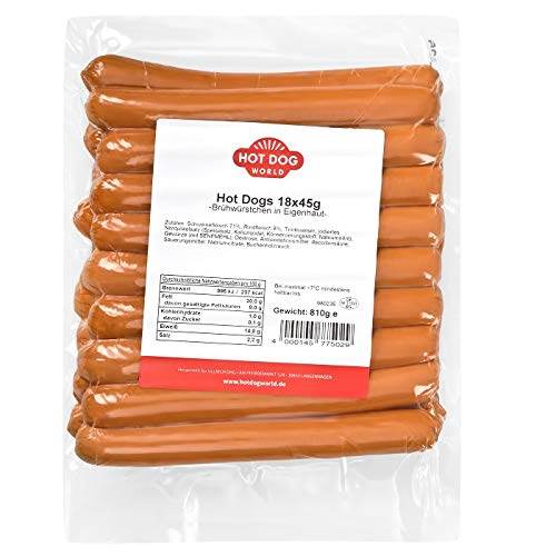 HOT DOG WORLD - Hot Dog Würstchen 18 x 45g