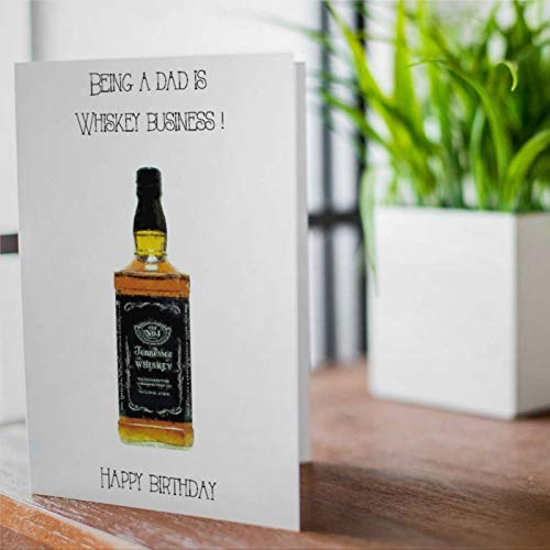 Geburtstagskarte für Väter, lustige Whisky-Geburtstagskarte für Väter, mit Umschlägen, 25,4 x 17,8 cm, ta081