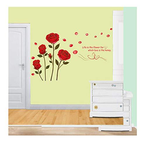 Hfwh muursticker, om zelf te maken, rozen, leven en het is die bloem, citaat, muurstickers, muurstickers, muurstickers, wanddecoratie, wanddecoratie