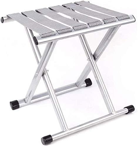 PULLEY Post pieghevole sedia – pieghevole portatile mini ispessimento esterno sedia da pesca piccola (colore: grigio)