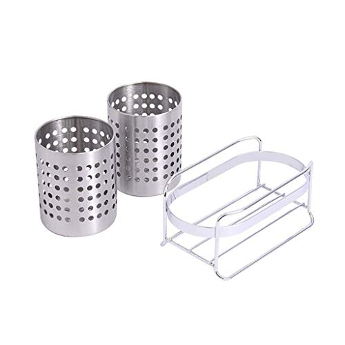ZGQA-GQA Kitchen shelf lixin 304 Stainless Steel Cutlery Rack (Color : Silver, Size : 20.4 15.6cm) (Color : Silver, Size : 20.4 15.6cm)