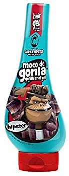 Moco de Gorila Hipster Hair Gel | Trendy Hair Styling Gel with Long-lasting Hold Gorilla Snot Gel is the Ultimate Hair Gel to create any Hipster Mainstream Hairstyle  11.9 oz Squizz Bottle