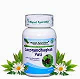 Planet Ayurveda High Blood Pressure 100% Natural Supplement Sarpgandhaghan Vati Pills(Rauwolfia Serpentina Capsules) Treats Insomnia and Hypertension, 120 Tablets, 500MG