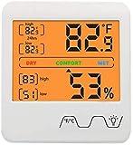AJH Digital higrómetro Interior Termómetro electrónico con retroiluminado Precisa Humedad de la Temperatura del Monitor para el hogar, Oficina
